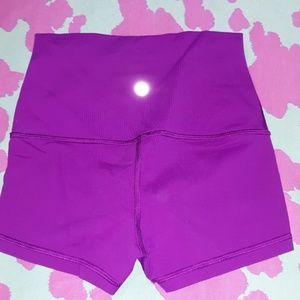 LuLuLemon Boogie Shorts Roll Down Waist 2 Purple